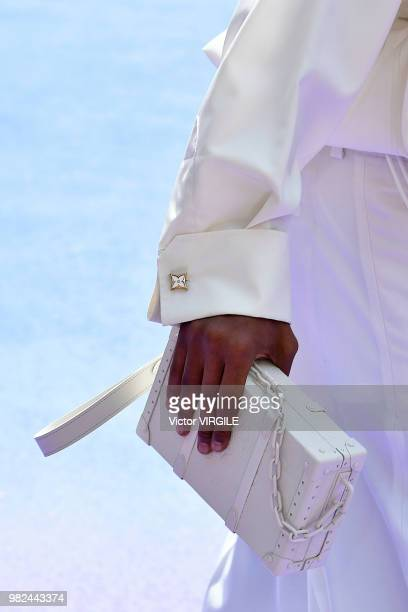 A model walks the runway during the Louis Vuitton Menswear Spring/Summer 2019 fashion show as part of Paris Fashion Week on June 21 2018 in Paris...