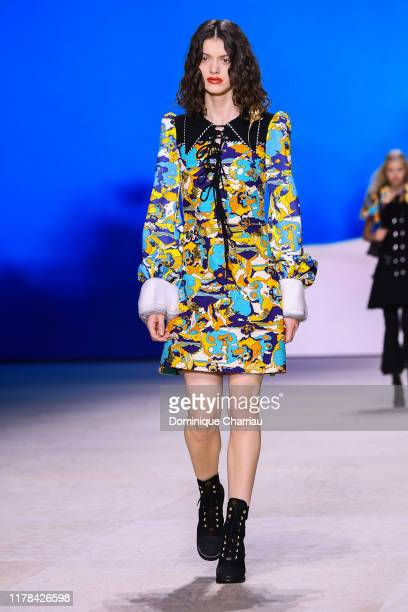 A model walks the runway during the Louis Vuitton Womenswear Spring/Summer 2020 show as part of Paris Fashion Week on October 01 2019 in Paris France