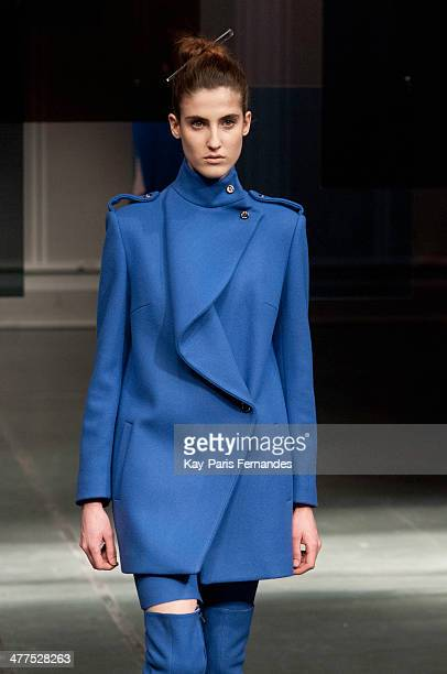 A model walks the runway during the Luis Bunchinko show as part of the Paris Fashion Week Womenswear Fall/Winter 20142015 on March 3 2014 in Paris...
