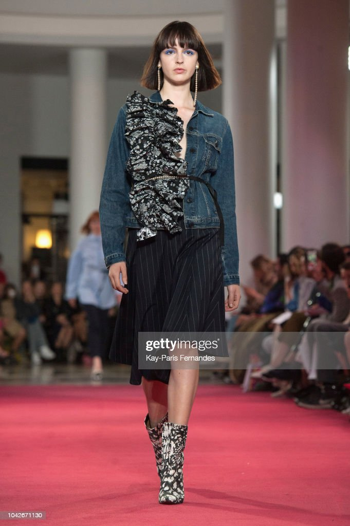 model-walks-the-runway-during-the-lutz-huelle-show-as-part-of-the-picture-id1042671130