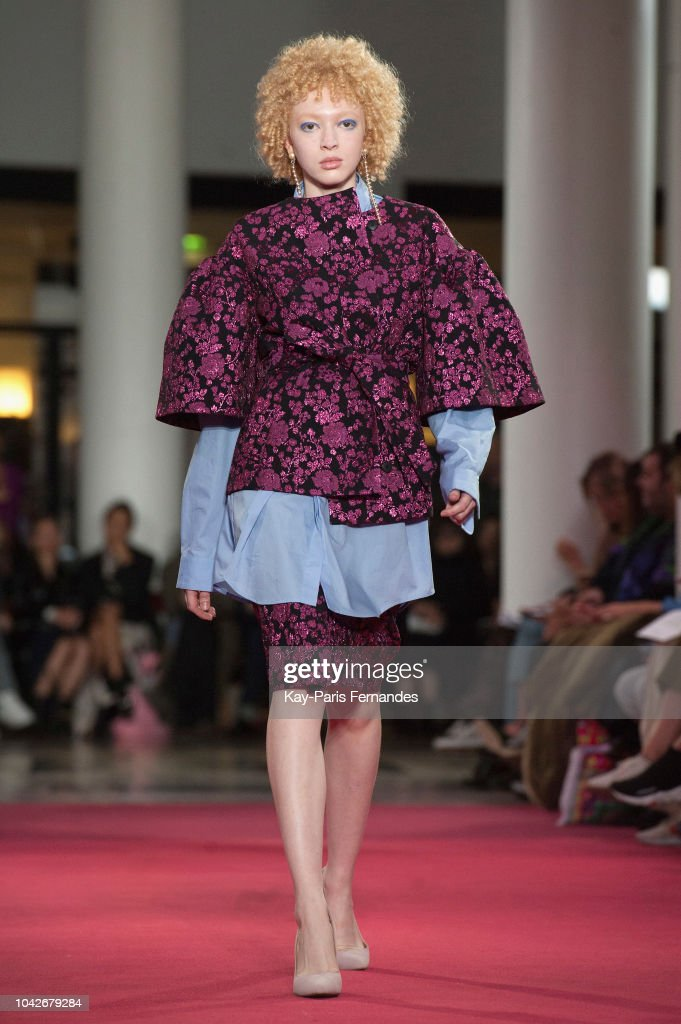 model-walks-the-runway-during-the-lutz-huelle-show-as-part-of-the-picture-id1042679284