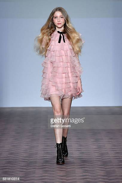 A model walks the runway during the MacGraw show at MercedesBenz Fashion Week Resort 17 Collections at Carriageworks on May 17 2016 in Sydney...