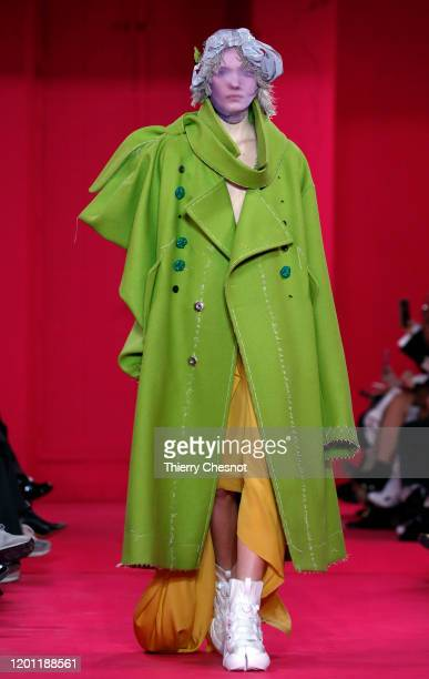 A model walks the runway during the Maison Margiela Haute Couture Spring/Summer 2020 show as part of Paris Fashion Week on January 22 2020 in Paris...