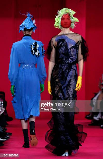 Model walks the runway during the Maison Margiela Haute Couture Spring/Summer 2020 show as part of Paris Fashion Week on January 22, 2020 in Paris,...