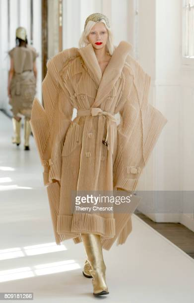 A model walks the runway during the Maison Margiela Haute Couture Fall/Winter 20172018 show as part of Haute Couture Paris Fashion Week on July 5...