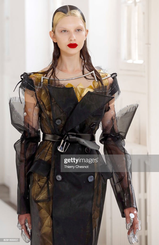 A model walks the runway during the Maison Margiela Haute Couture Fall/Winter 2017-2018 show as part of Haute Couture Paris Fashion Week on July 5, 2017 in Paris, France.