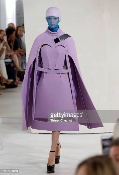 A model walks the runway during the Maison Margiela Haute Couture Fall Winter 2018/2019 show as part of Paris Fashion Week on July 4 2018 in Paris...