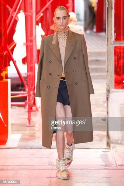 A model walks the runway during the Maison Margiela Menswear Spring/Summer 2019 show as part of Paris Fashion Week on June 22 2018 in Paris France