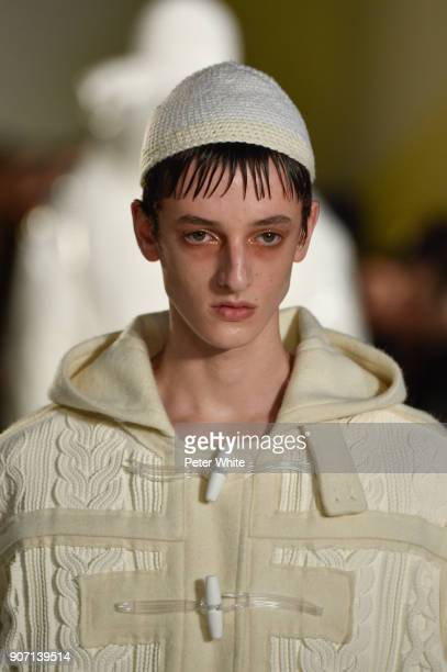 A model walks the runway during the Maison Margiela Menswear Fall/Winter 20182019 show as part of Paris Fashion Week on January 19 2018 in Paris...
