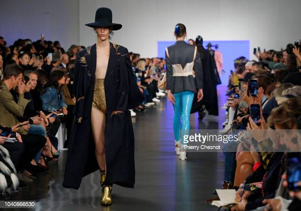 A model walks the runway during the Maison Margiela show as part of the Paris Fashion Week Womenswear Spring/Summer 2019 on September 26 2018 in...