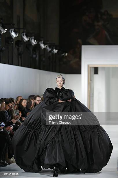 A model walks the runway during the Maison Margiela Spring Summer 2017 show as part of Paris Fashion Week on January 25 2017 in Paris France