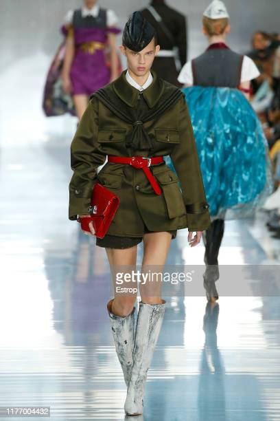 A model walks the runway during the Maison Margiela Womenswear Spring/Summer 2020 show as part of Paris Fashion Week on September 25 2019 in Paris...