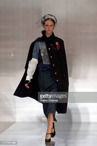 Model walks the runway during the Maison Margiela Womenswear Spring/Summer 2020 show as part of Paris Fashion Week on September 25, 2019 in Paris,...