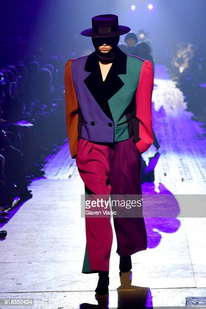 A model walks the runway during the Marc Jacobs Fall 2018 Show at Park Avenue Armory on February 14 2018 in New York City