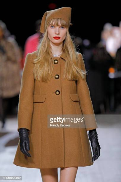 Model walks the runway during the Marc Jacobs Fall Winter 2020 fashion show at the Park Avenue Armory on February 12, 2020 in New York City.