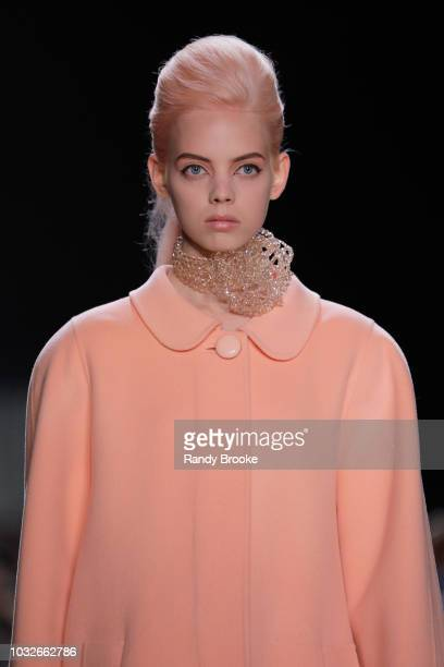 A model walks the runway during the Marc Jacobs Spring 2019 show September 2018 New York Fashion Week at Park Avenue Armory on September 12 2018 in...