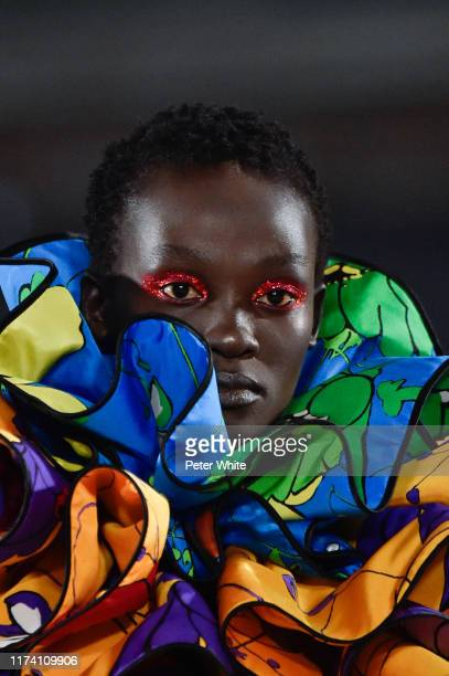A model walks the runway during the Marc Jacobs Spring 2020 Runway Show at Park Avenue Armory on September 11 2019 in New York City