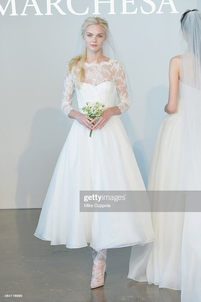 5615598e A model walks the runway during the Marchesa Spring 2015 Bridal ...
