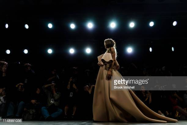 A model walks the runway during the Mariam Seddiq show at MercedesBenz Fashion Week Resort 20 Collections at Carriageworks on May 14 2019 in Sydney...