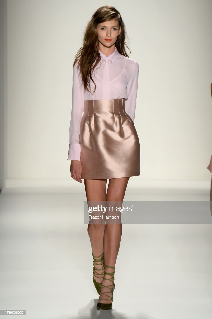 A model walks the runway during the Marissa Webb Spring 2014 fashion show at Mercedes-Benz Fashion Week Spring 2014 - Official Coverage - Best Of Runway Day 1 on September 5, 2013 in New York City.