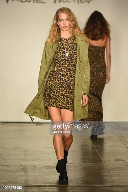A model walks the runway during the Mary Kay at Nicole Miller Spring/Summer 2019 fashion show at Industria Studios on September 6 2018 in New York...