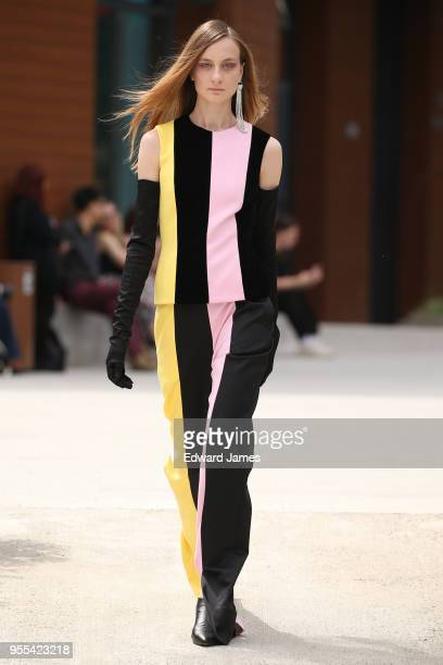 Model walks the runway during the Materiel by George Keburia Fall/Winter 2018/2019 Collection fashion show at Mercedes-Benz Fashion Week Tbilisi on...