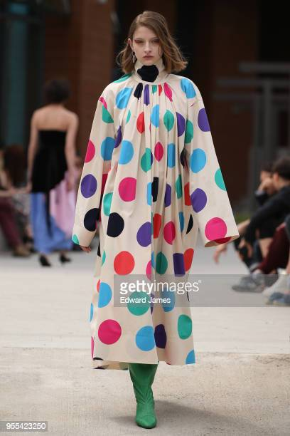 A model walks the runway during the Materiel by George Keburia Fall/Winter 2018/2019 Collection fashion show at MercedesBenz Fashion Week Tbilisi on...