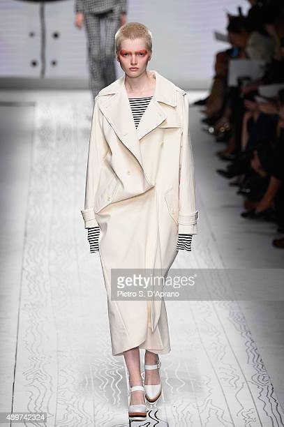 A model walks the runway during the Max Mara fashion show as part of Milan Fashion Week Spring/Summer 2016 on September 24 2015 in Milan Italy