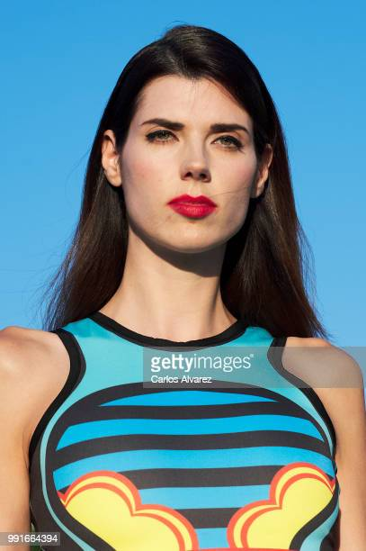 Model walks the runway during the Maya Hansen fashion show as part of the Madrid Mercedes Benz Fashion Week Spring/Summer 2019 at the Picalagartos...