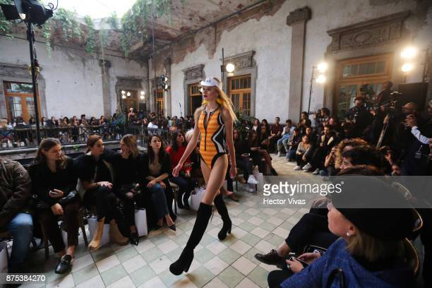 A model walks the runway during the Maya Hansen show as part of the Mercedes Benz Fashion Week Spring/Summer 2018 at General Prim on November 16 2017...