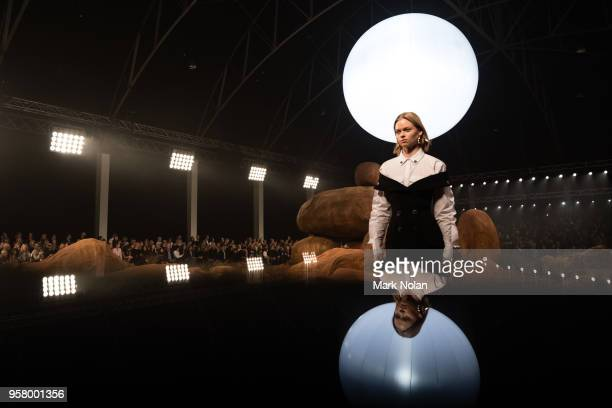 A model walks the runway during the Mercedes Benz Presents Camilla and Marc show at MercedesBenz Fashion Week Resort 19 Collections at the Royal Hall...