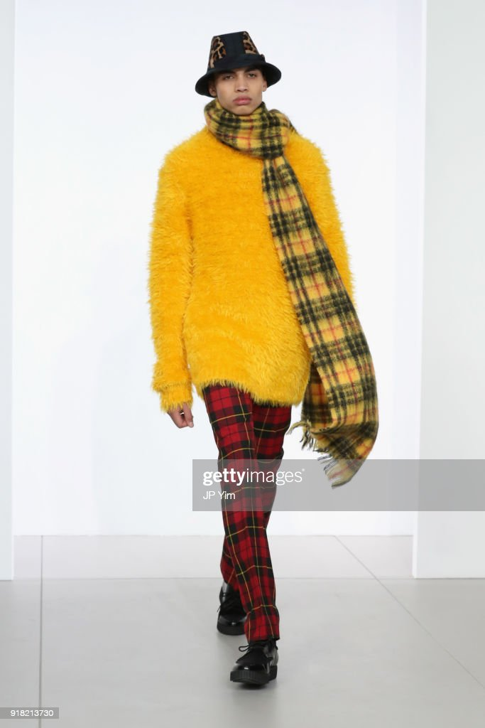 eb2683198295 A model walks the runway during the Michael Kors Collection Fall ...
