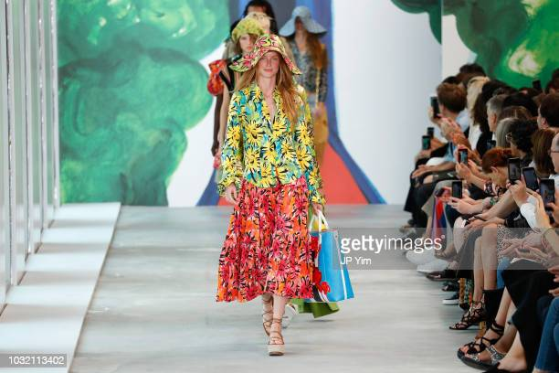 A model walks the runway during the Michael Kors Collection Spring 2019 Runway Show at Pier 17 on September 12 2018 in New York City
