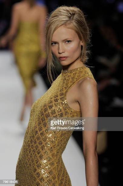 A model walks the runway during the Michael Kors fashion show part of New York Mercedes Benz Fashion Week Autumn/Winter 2008 on the 6th of February...