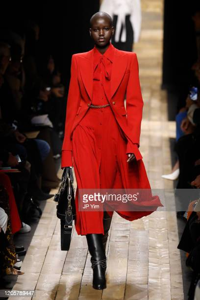 Model walks the runway during the Michael Kors FW20 Runway Show on February 12, 2020 in New York City.