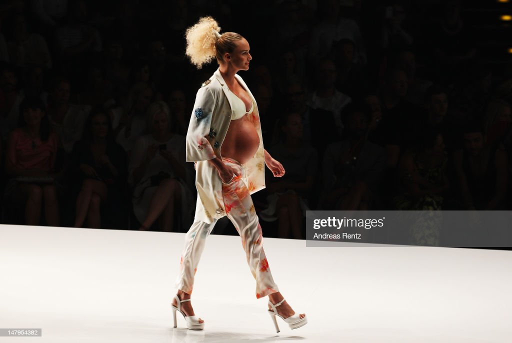 A model walks the runway during the Michalsky Style Nite 2012 Show at the Mercedes-Benz Fashion Week Spring/Summer 2013 on July 6, 2012 in Berlin, Germany.