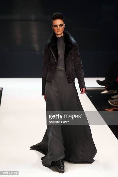 A model walks the runway during the Michalsky Style Nite Autumn/Winter 2013/14 Show at the MercedesBenz Fashion Week at Tempodrom on January 18 2013...