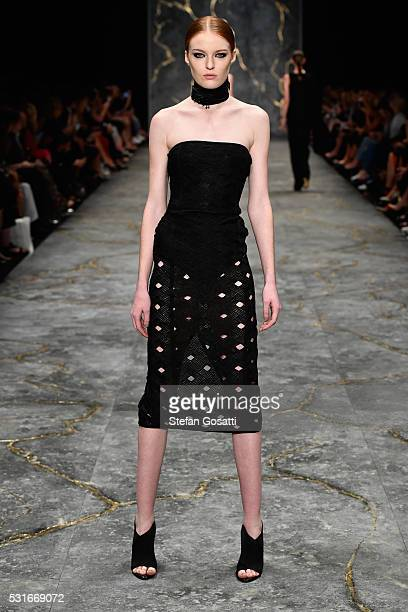 Model walks the runway during the Misha Collection show at Mercedes-Benz Fashion Week Resort 17 Collections at Carriageworks on May 16, 2016 in...