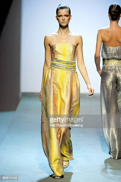 A model walks the runway during the Missoni Spring/Summer 2008/2009 collection during Milan Fashion Week on September 22 2008 in Milan Italy