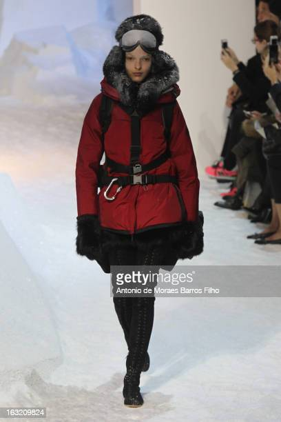 f9bcf4bf423c A model walks the runway during the Moncler Gamme Rouge Fall Winter 2013  ReadytoWear show