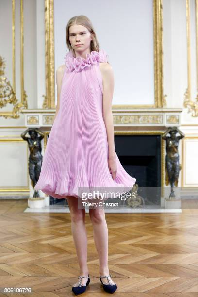 A model walks the runway during the Monique Lhuillier Haute Couture Fall/Winter 20172018 show as part of Haute Couture Paris Fashion Week on July 3...