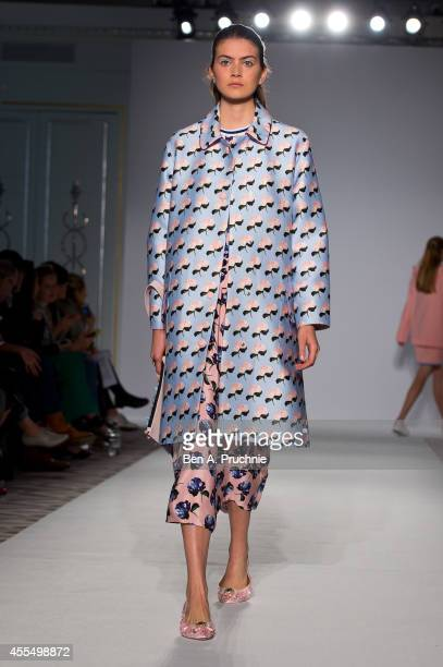 A model walks the runway during the Mother of Pearl presentation during London Fashion Week Spring Summer 2015 on September 15 2014 in London England