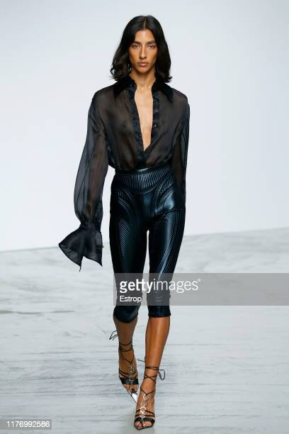 A model walks the runway during the Mugler Womenswear Spring/Summer 2020 show as part of Paris Fashion Week on September 25 2019 in Paris France