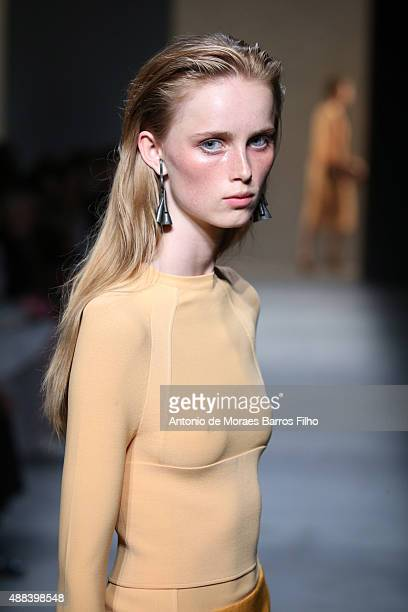 A model walks the runway during the Narciso Rodriguez show as a part of Spring 2016 New York Fashion Week on September 15 2015 in New York City