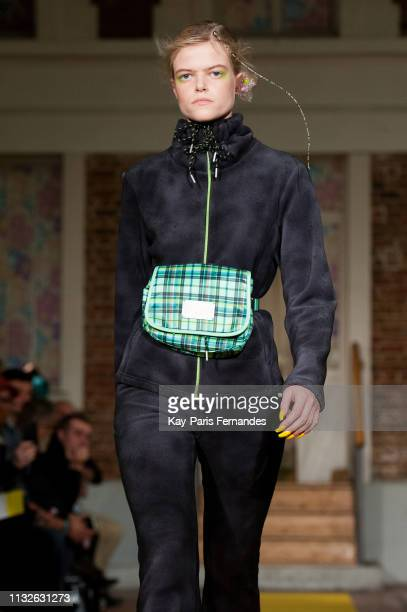 A model walks the runway during the Neith Nyer DDP show as part of the Paris Fashion Week Womenswear Fall/Winter 2019/2020 on February 27 2019 in...