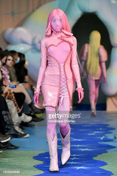 Model walks the runway during the Neith Nyer Menswear Spring Summer 2022 show as part of Paris Fashion Week on June 24, 2021 in Paris, France.