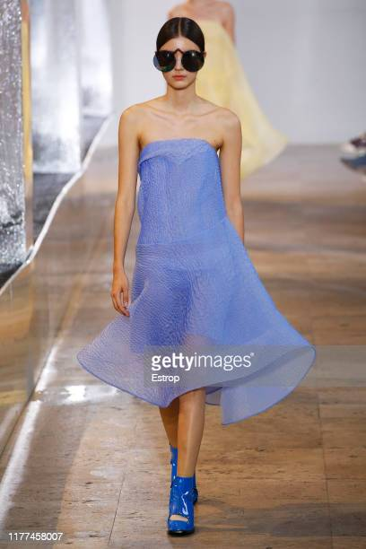 Model walks the runway during the Nina Ricci Womenswear Spring/Summer 2020 show as part of Paris Fashion Week on September 27, 2019 in Paris, France.