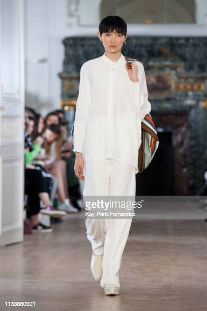 A model walks the runway during the Nobi Talai show as part of the Paris Fashion Week Womenswear Fall/Winter 2019/2020 on March 04 2019 in Paris...