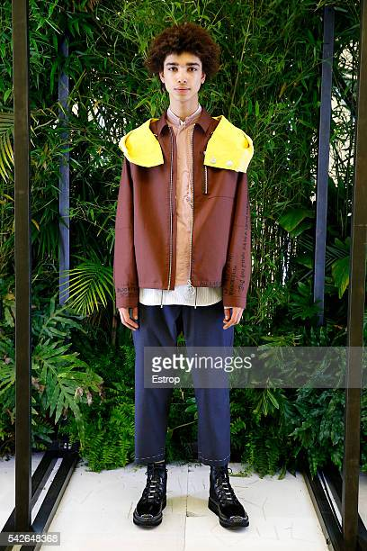 Model walks the runway during the OAMC Menswear Spring/Summer 2017 show as part of Paris Fashion Week on June 22, 2016 in Paris, France.