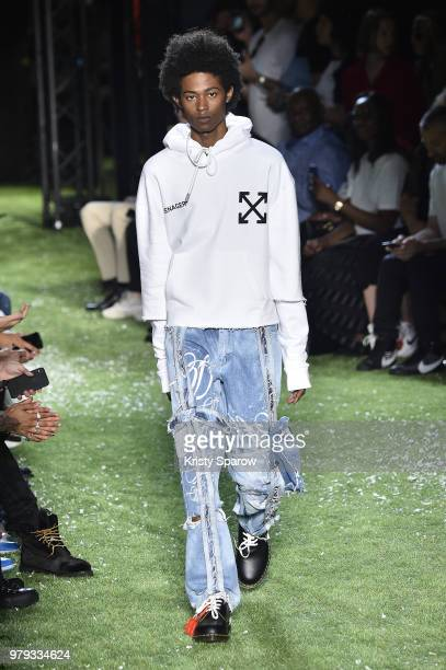 A model walks the runway during the OffWhite Menswear Spring/Summer 2019 show as part of Paris Fashion Week on June 20 2018 in Paris France